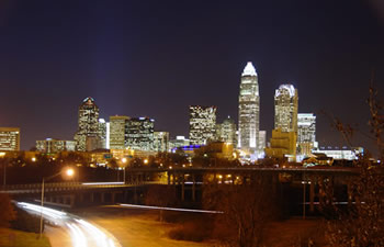 view of downtown Charlotte, NC