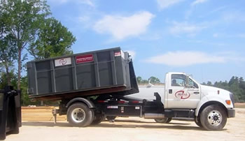 truck for Dumpster Rental in Charlotte NC